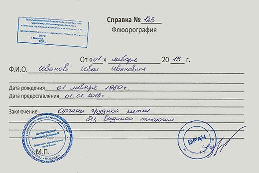 Справка флюорографии Восточный административный округ общий анализ крови в липецке стоимость